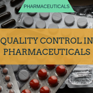 training on quality control in pharmaceuticals