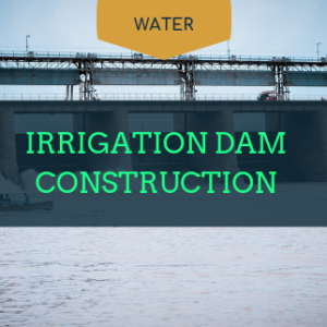 irrigation of dam construction