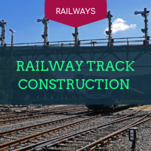 railway track construction institute in india